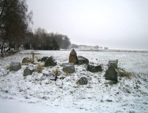 Das Dorf in Dangast – Grenzstein